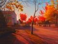 autumn street corner vancouver-niels petersen